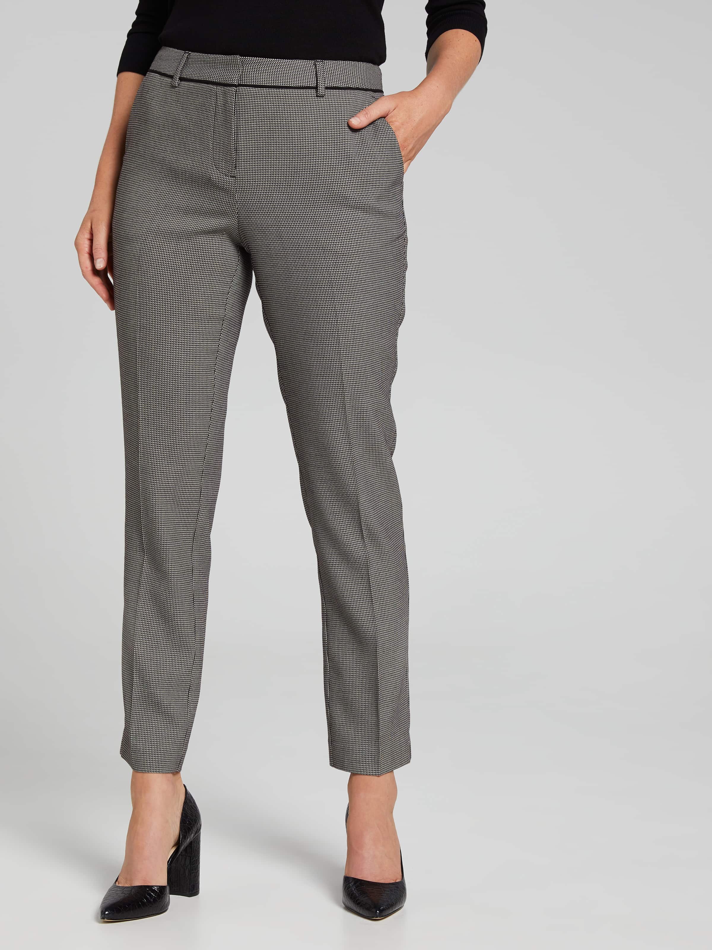 Image of Jacqui E Australia Jacqui E Geo Piped Slim Leg Suit Pant