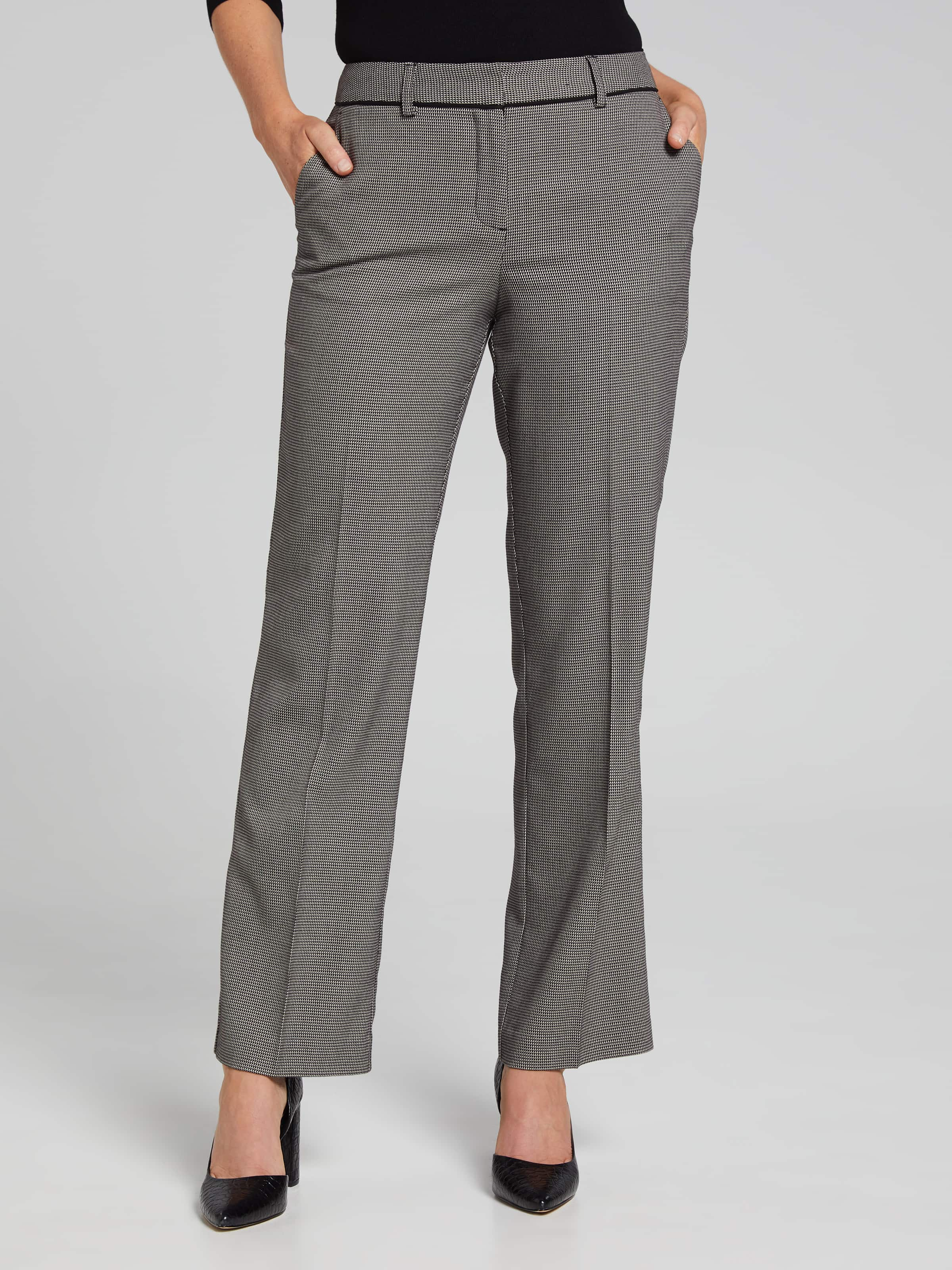 Image of Jacqui E Australia Jacqui E Geo Piped Wide Leg Suit Pant