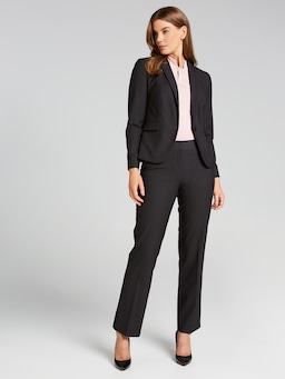 Houndstooth Straight Suit Pant