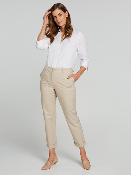 Relaxed Cotton Stretch Chino