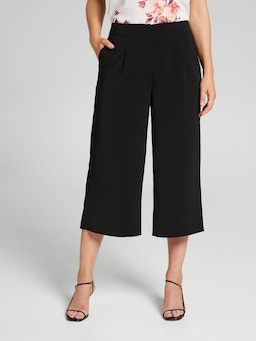 Penny Fly Front Crepe Culotte