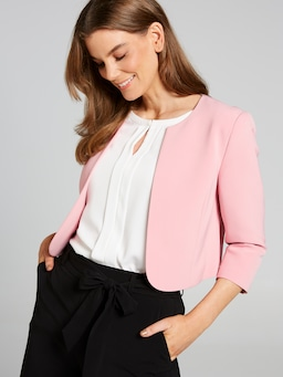 Curved Front Crop Jacket