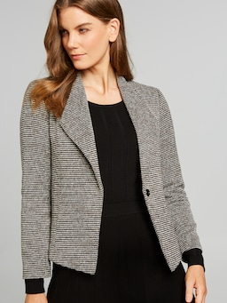 Chevron Knit Short Jacket