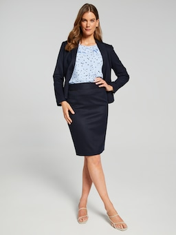 Pocket Detail Suit Skirt