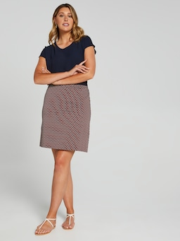 Geo A-Line Sateen Skirt