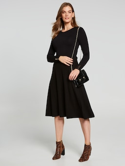 Mia Milano Panel Midi Skirt