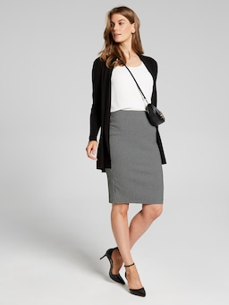 Geo Jacquard Pencil Skirt