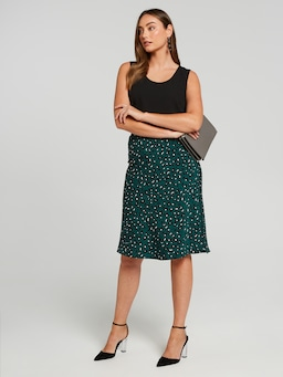 Leopard Soft Midi Skirt