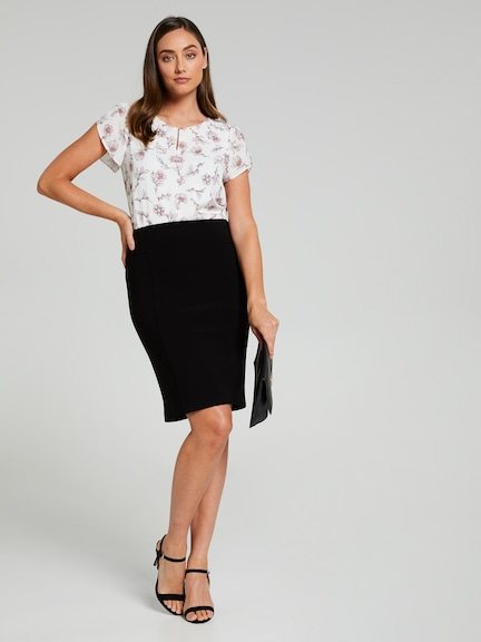 Rosie Panel Pencil Skirt