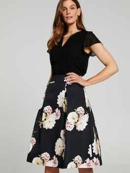 Printed Full Midi Skirt