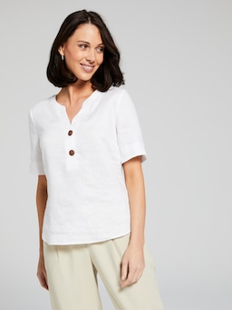Elbow Button Linen Pop Over