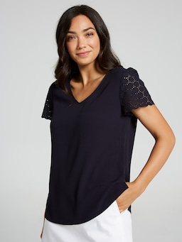 Addison Broderie Blouse