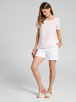 Square Neck Linen Top
