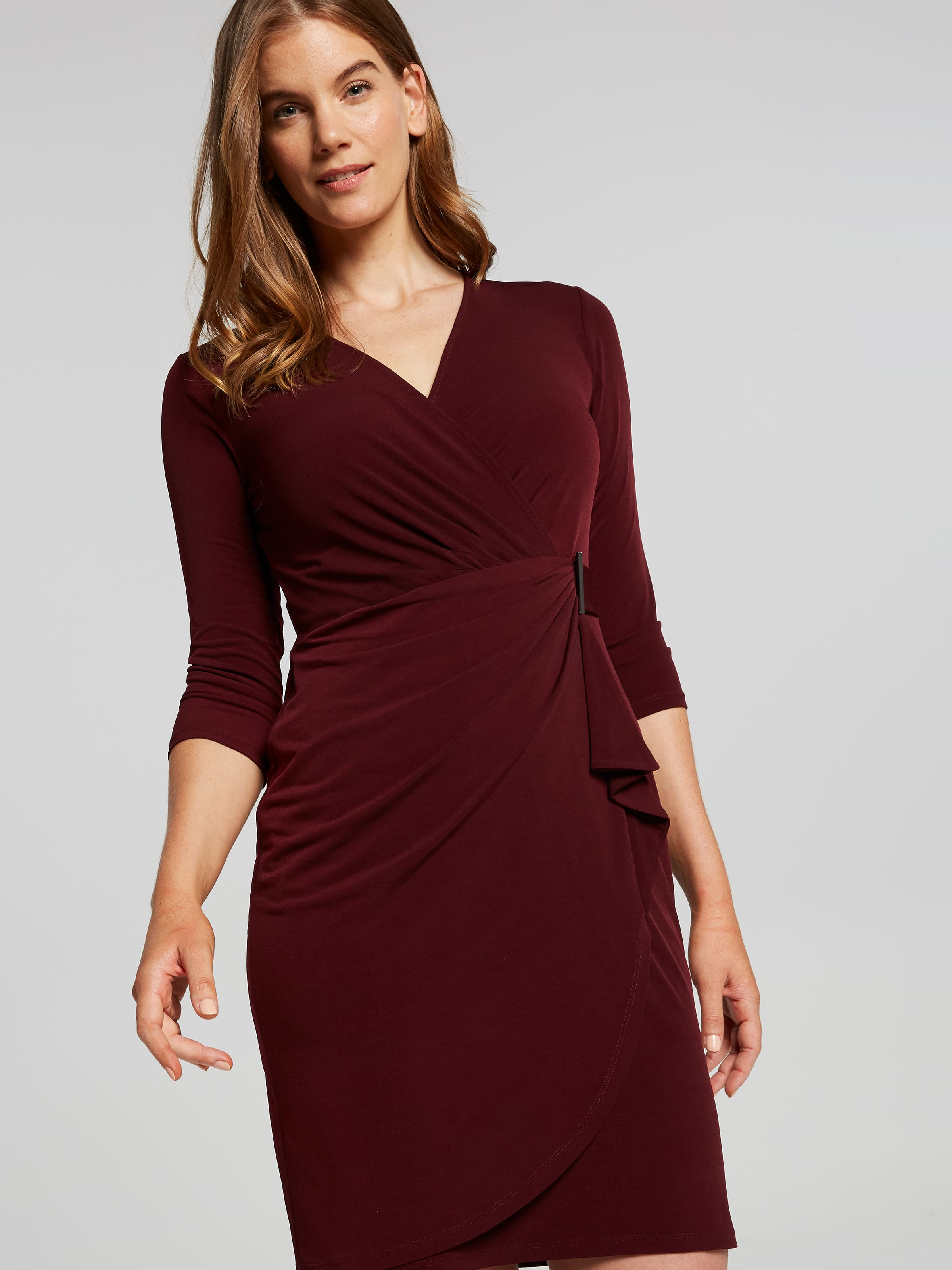 Image of Jacqui E Australia Jacqui E 3/4 Sleeve Venus Dress
