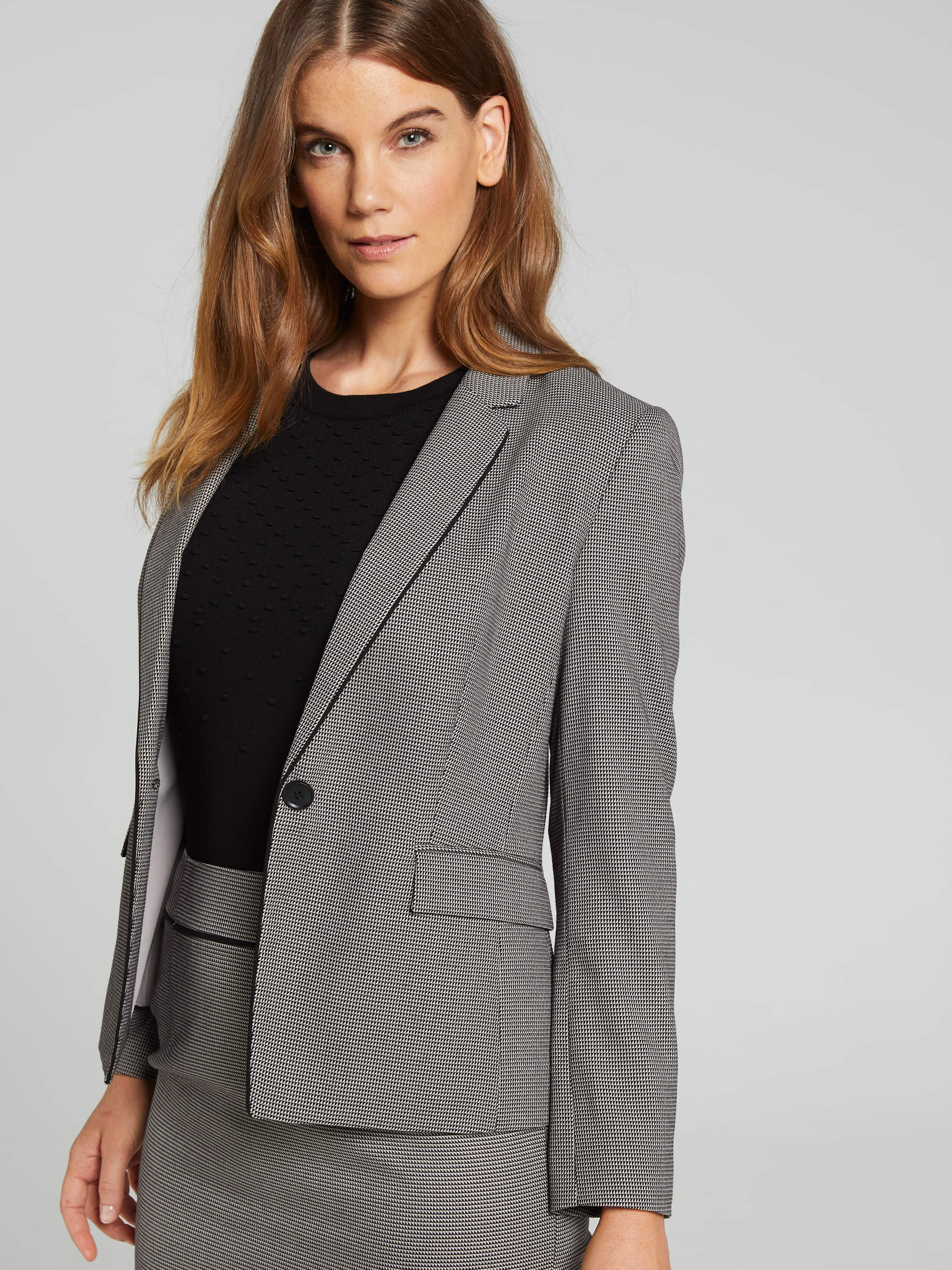 Image of Jacqui E Australia Jacqui E Geo Piped Suit Jacket