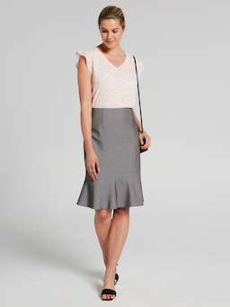 Birdseye Suit Skirt