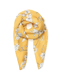 Marigold Floral Pleat Scarf