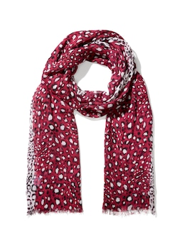 Berry Animal Viscose Scarf