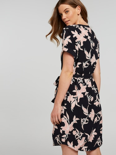 Short Sleeve Holly Holiday Pop Over Dress
