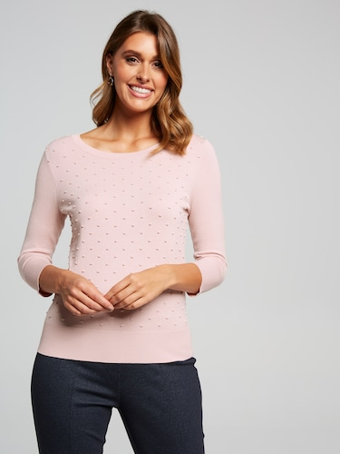 Gail Spot Stitch Front Top