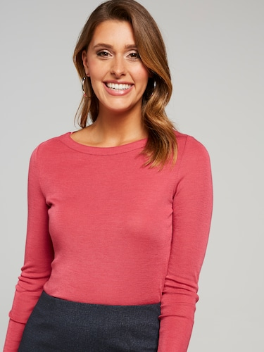 Boat Neck Solid Top