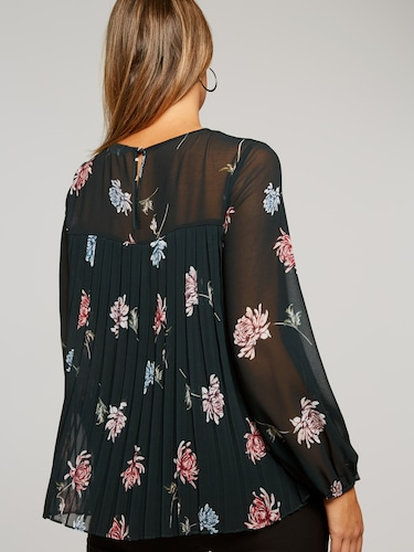 Annie Pleat Printed Blouse