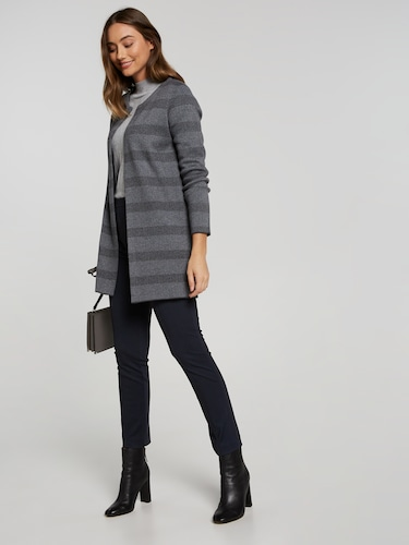 Suri Stripe Edge Cardi Coat