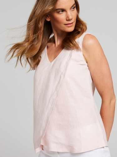 Double Layer Linen Top