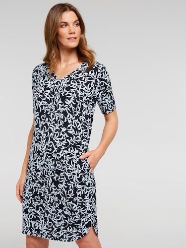 V-Neck Tee Shirt Dress