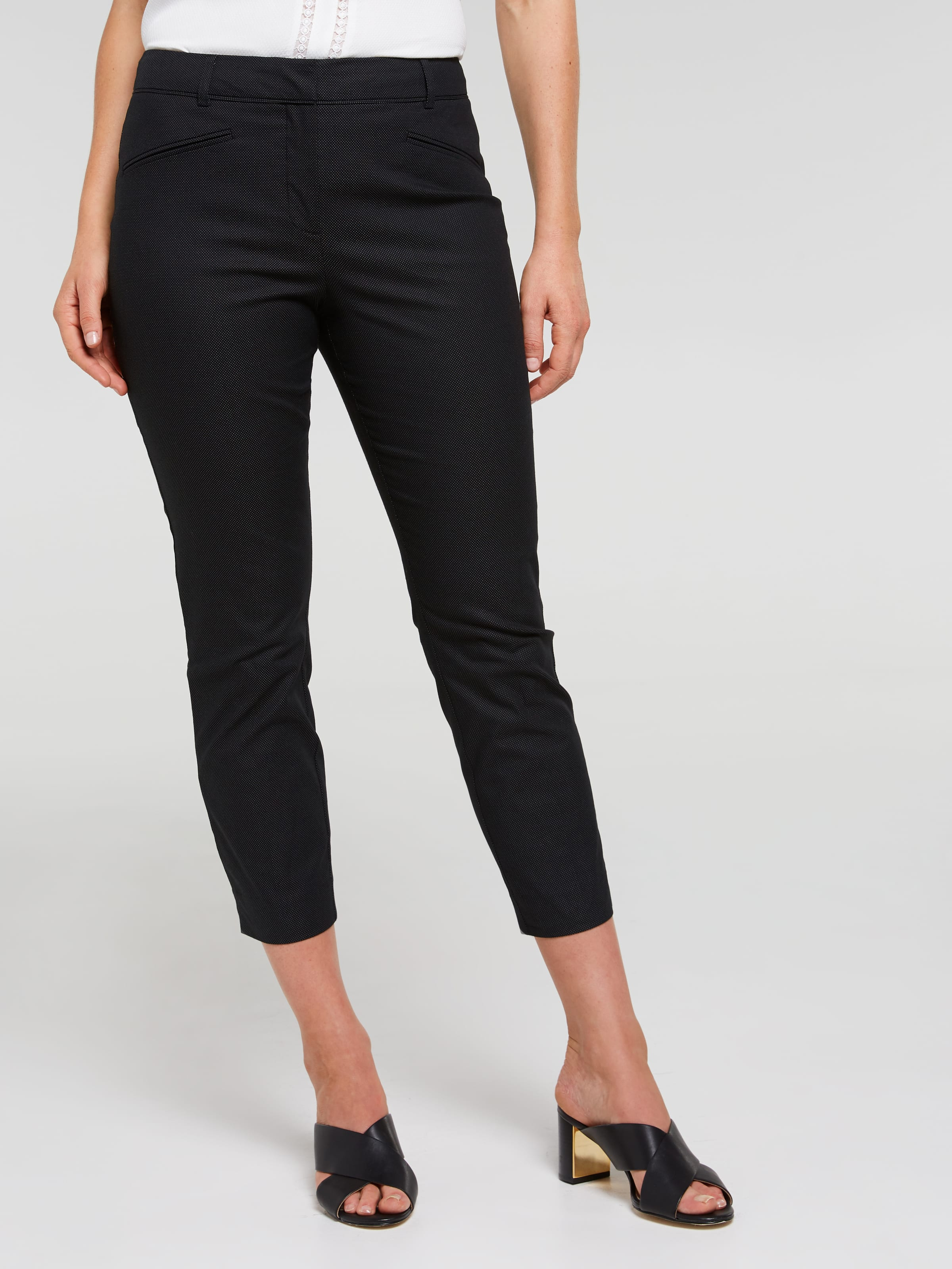 Allison Slim 7/8 Dobby Sateen Pant
