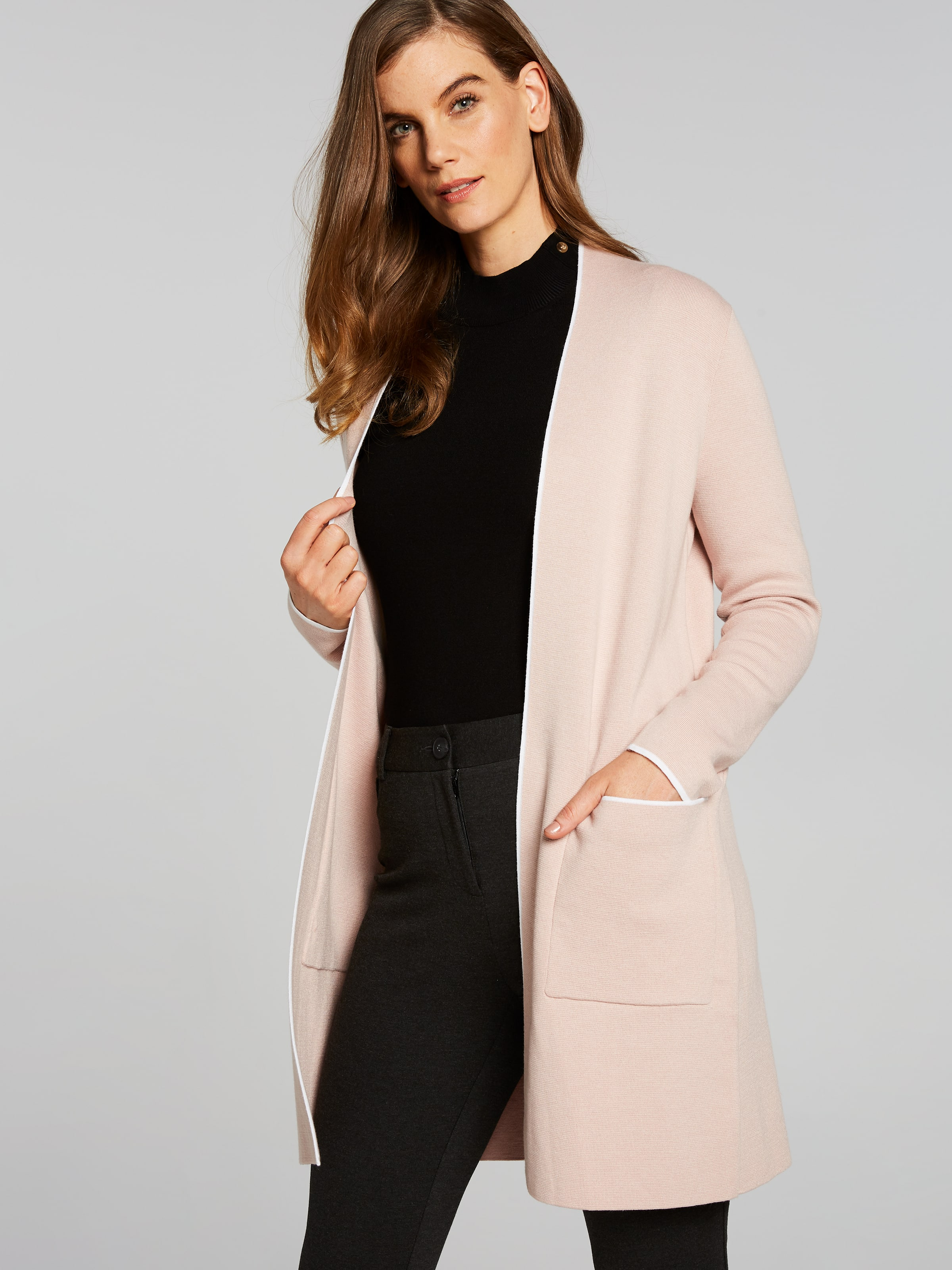 Long Sleeve Abby Tipping Cardi Coat