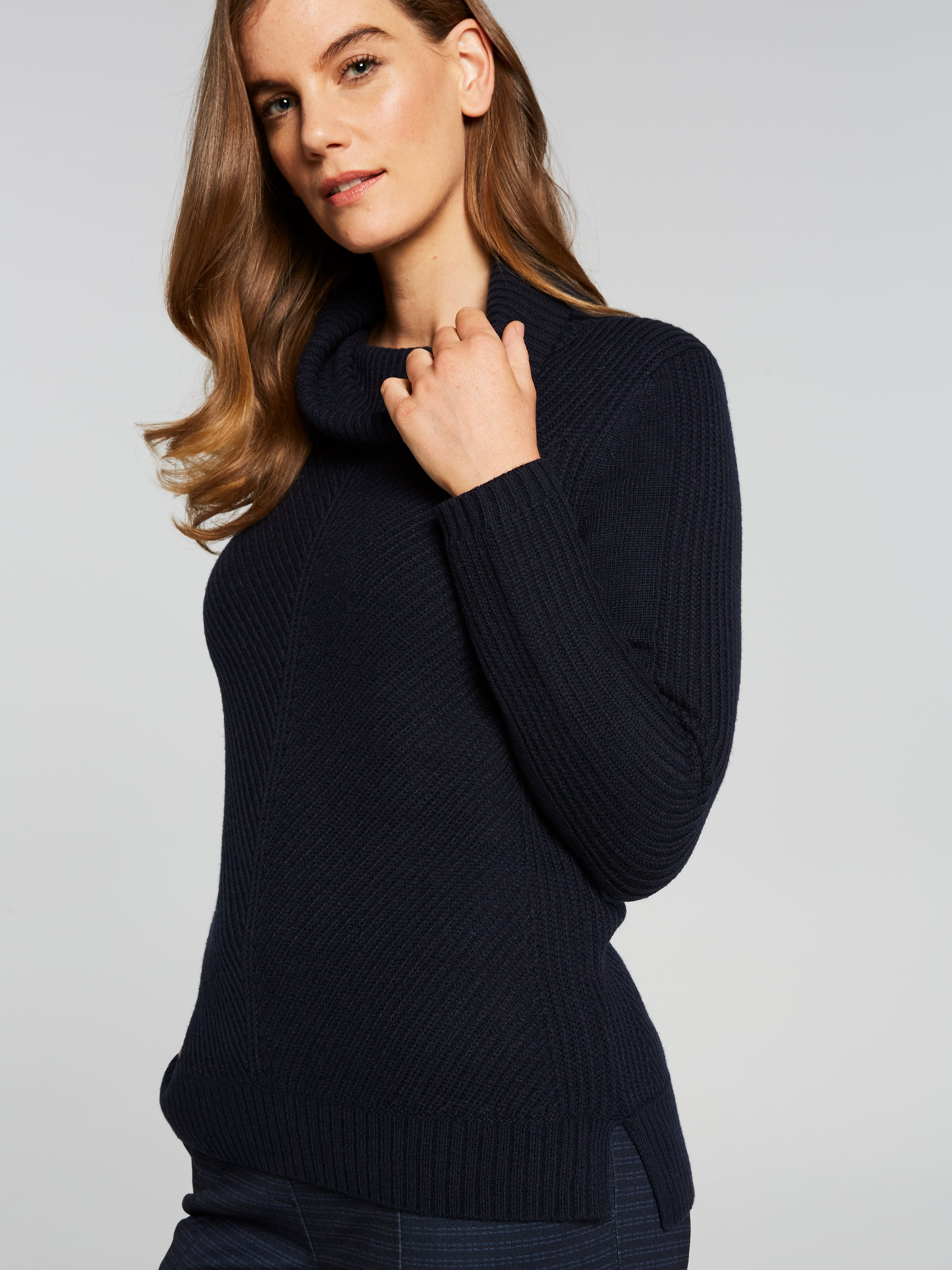 Long Sleeve Sonia Mitre Front Knit Top