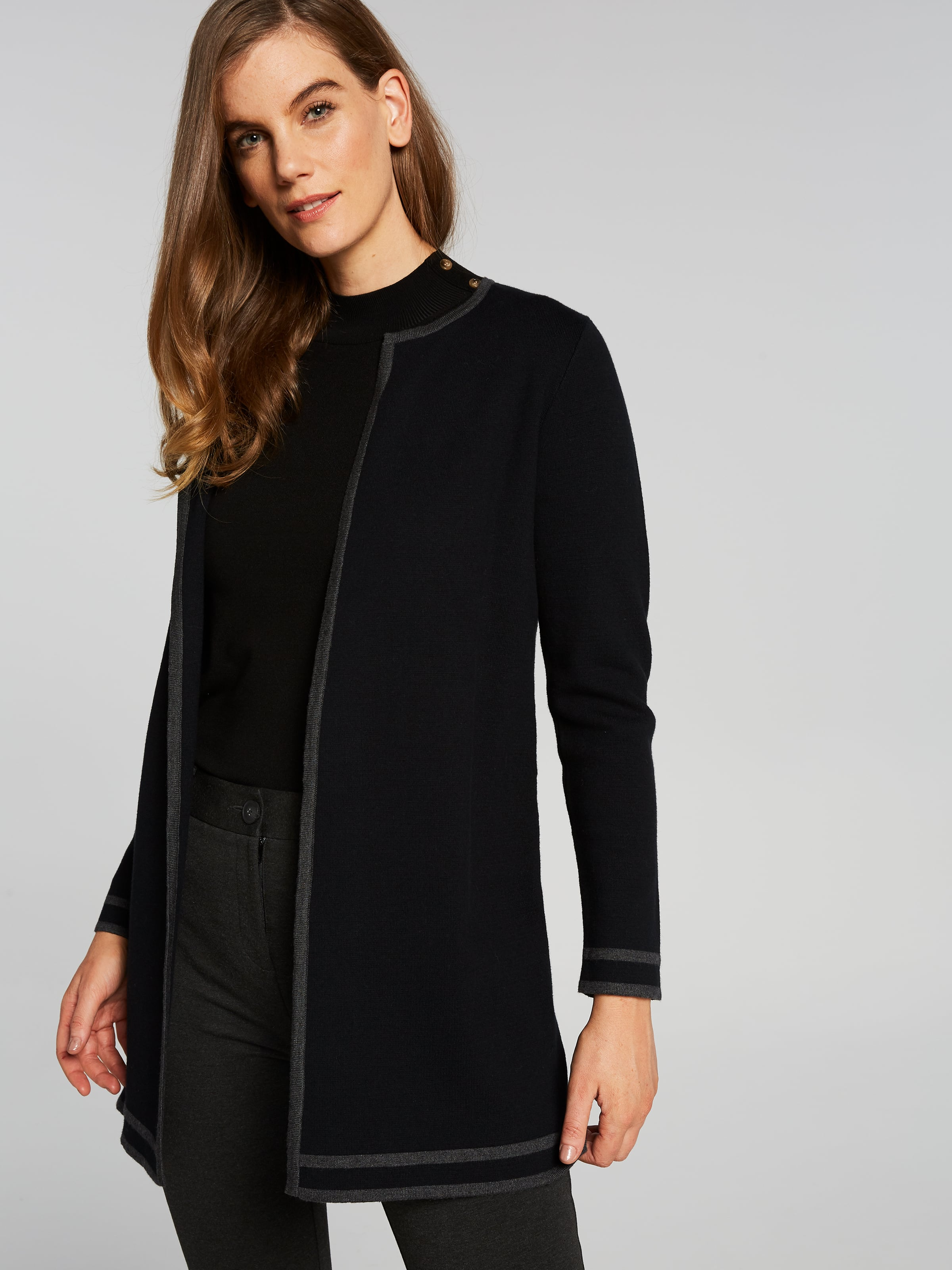Pippa Piped Detail Cardi Coat