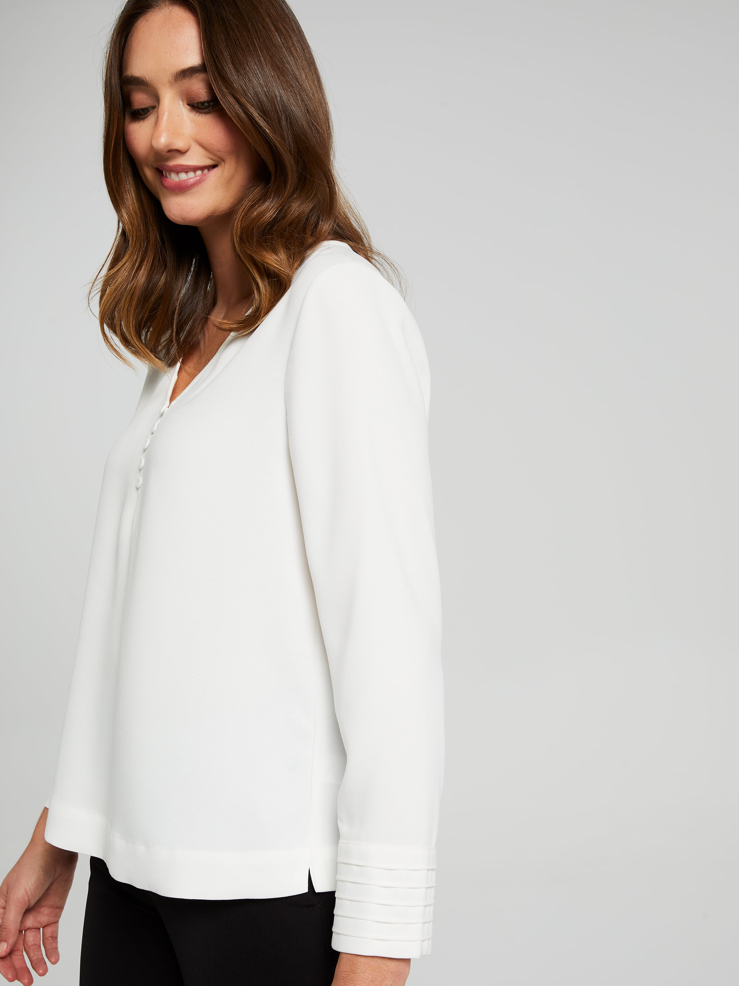 Long Sleeve Mia Cuff Detail Blouse