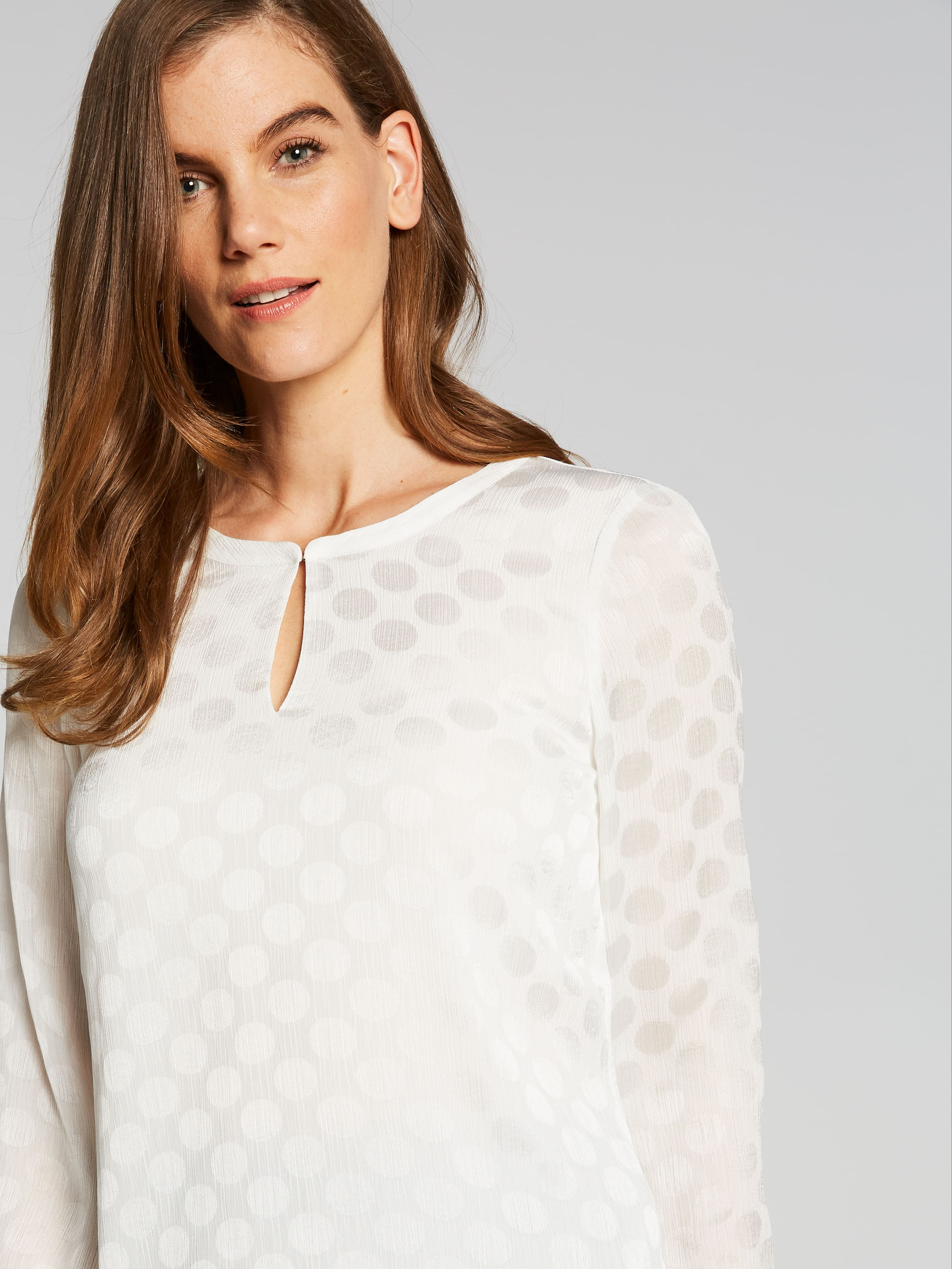 Long Sleeve Ada Textured Spot Blouse