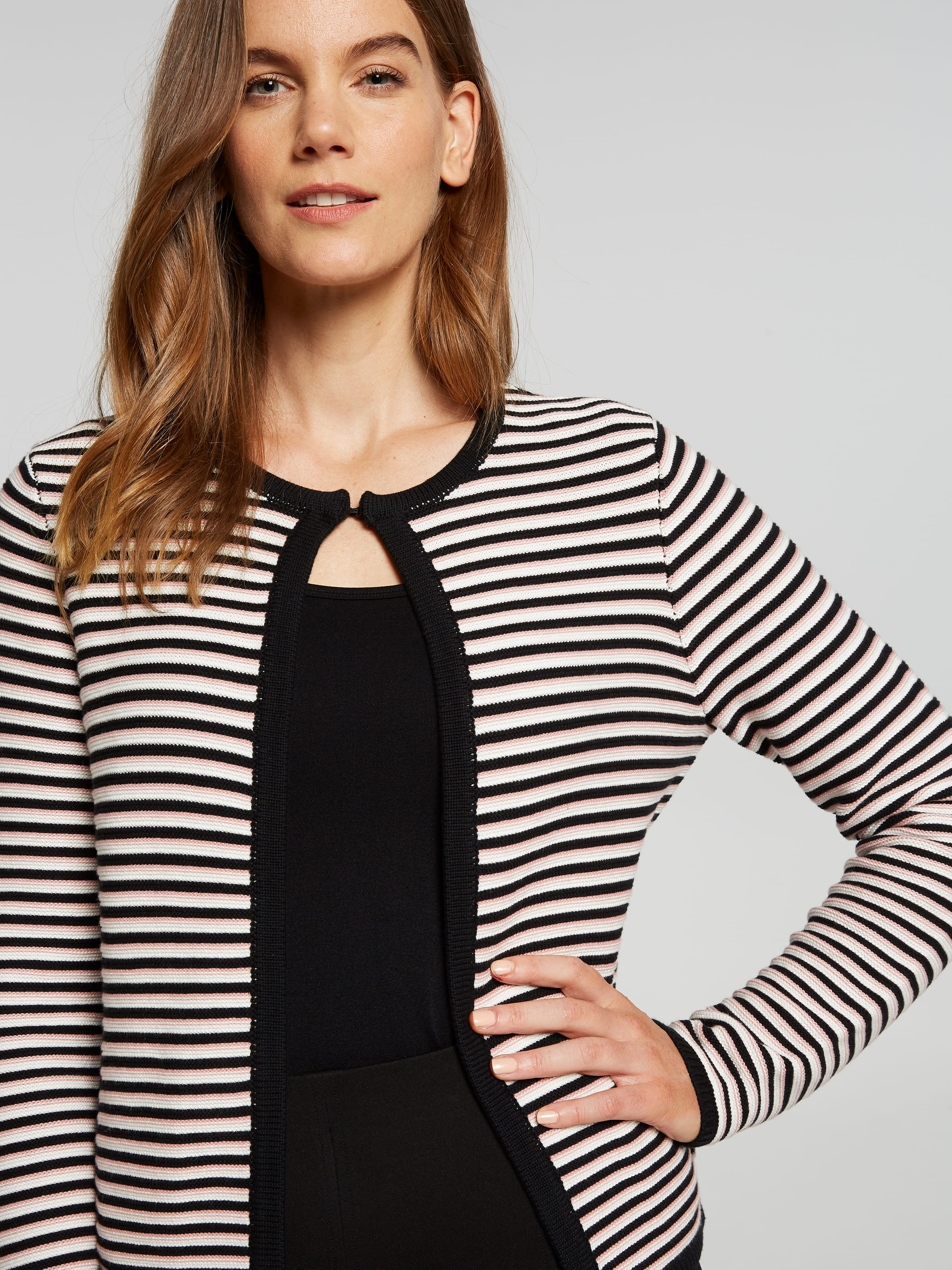 Steph Stripe Knitted Jacket