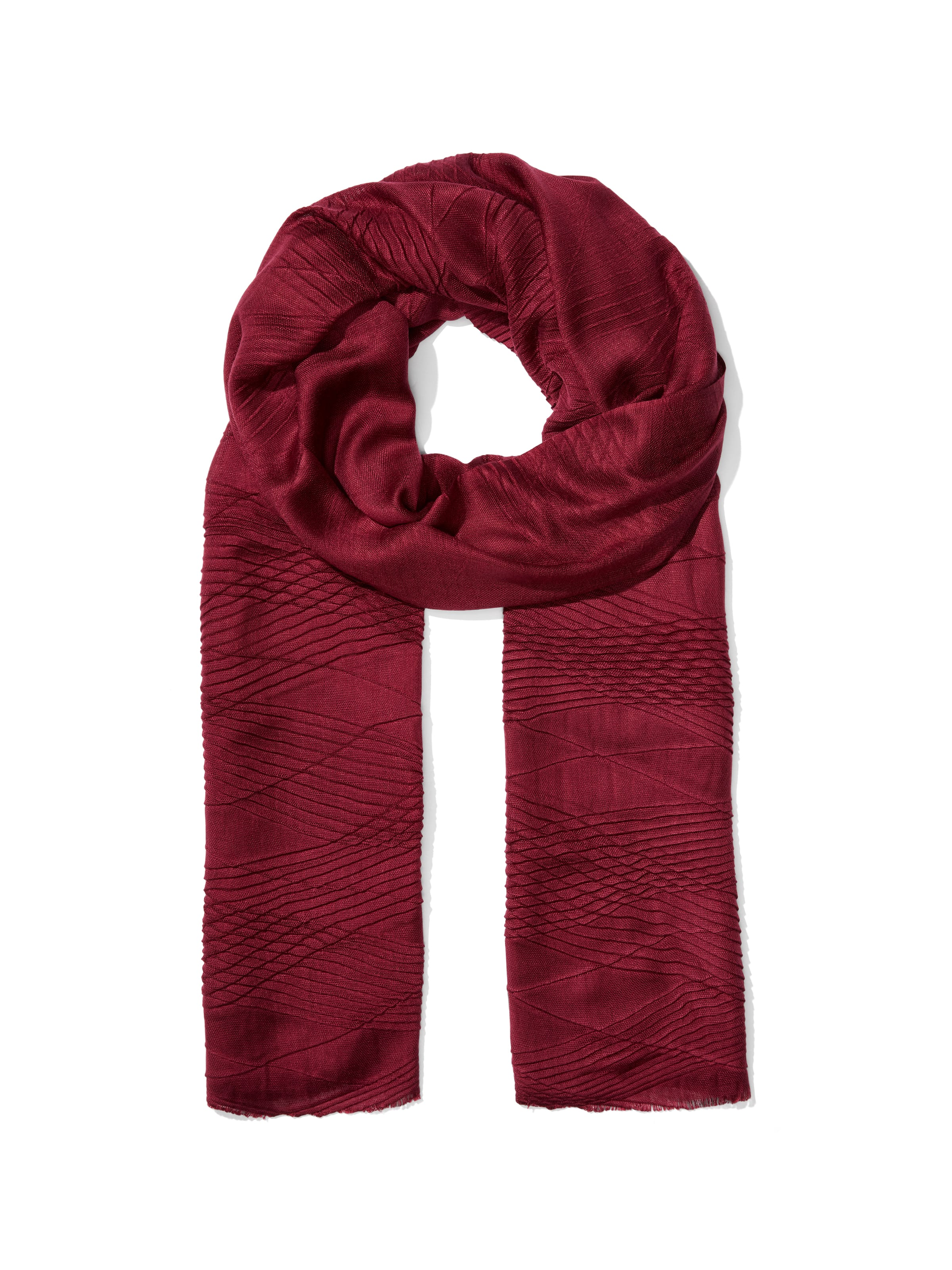 Diagonal Pleated Scarf