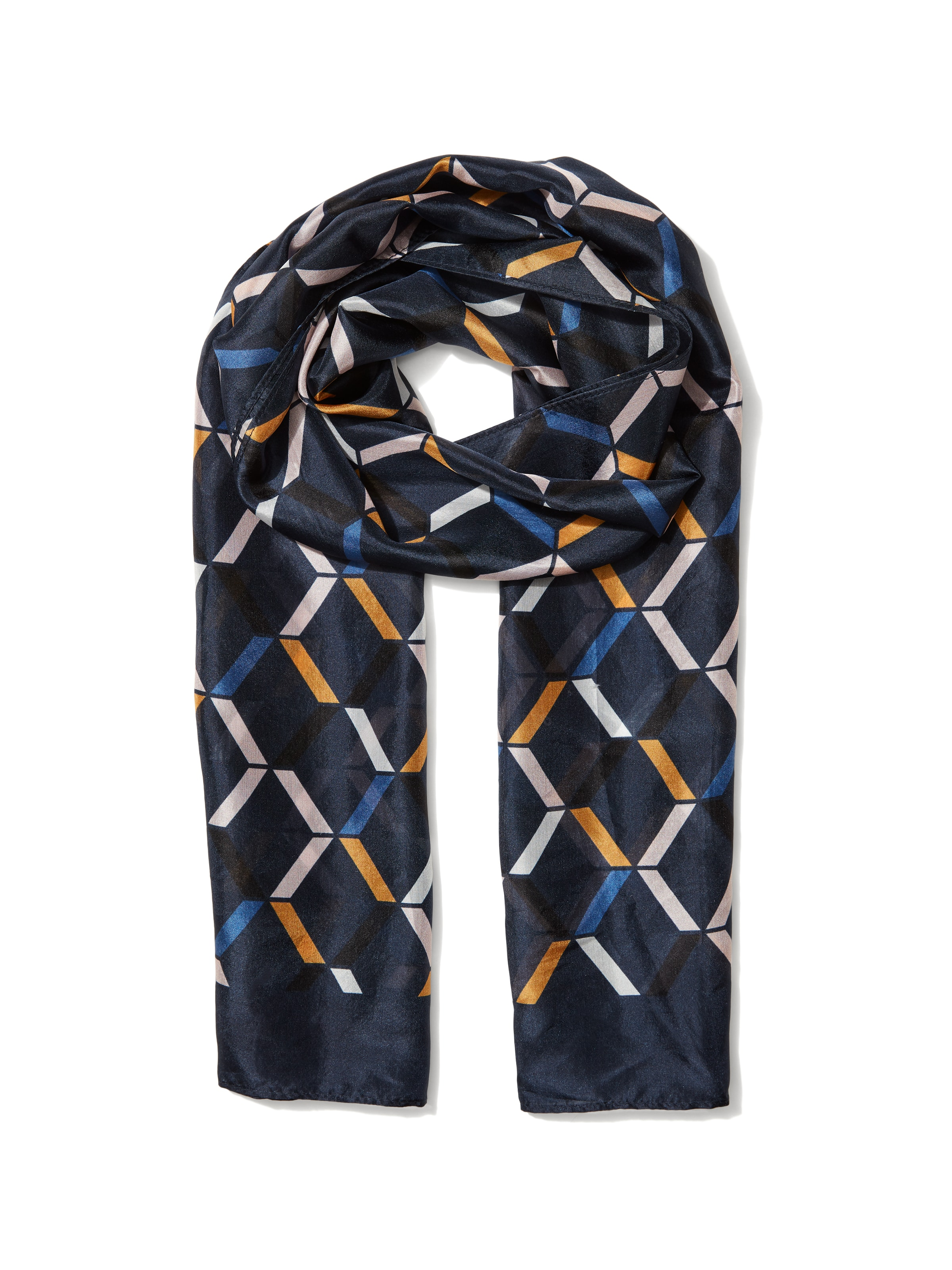 Diamond Geo Silk Scarf