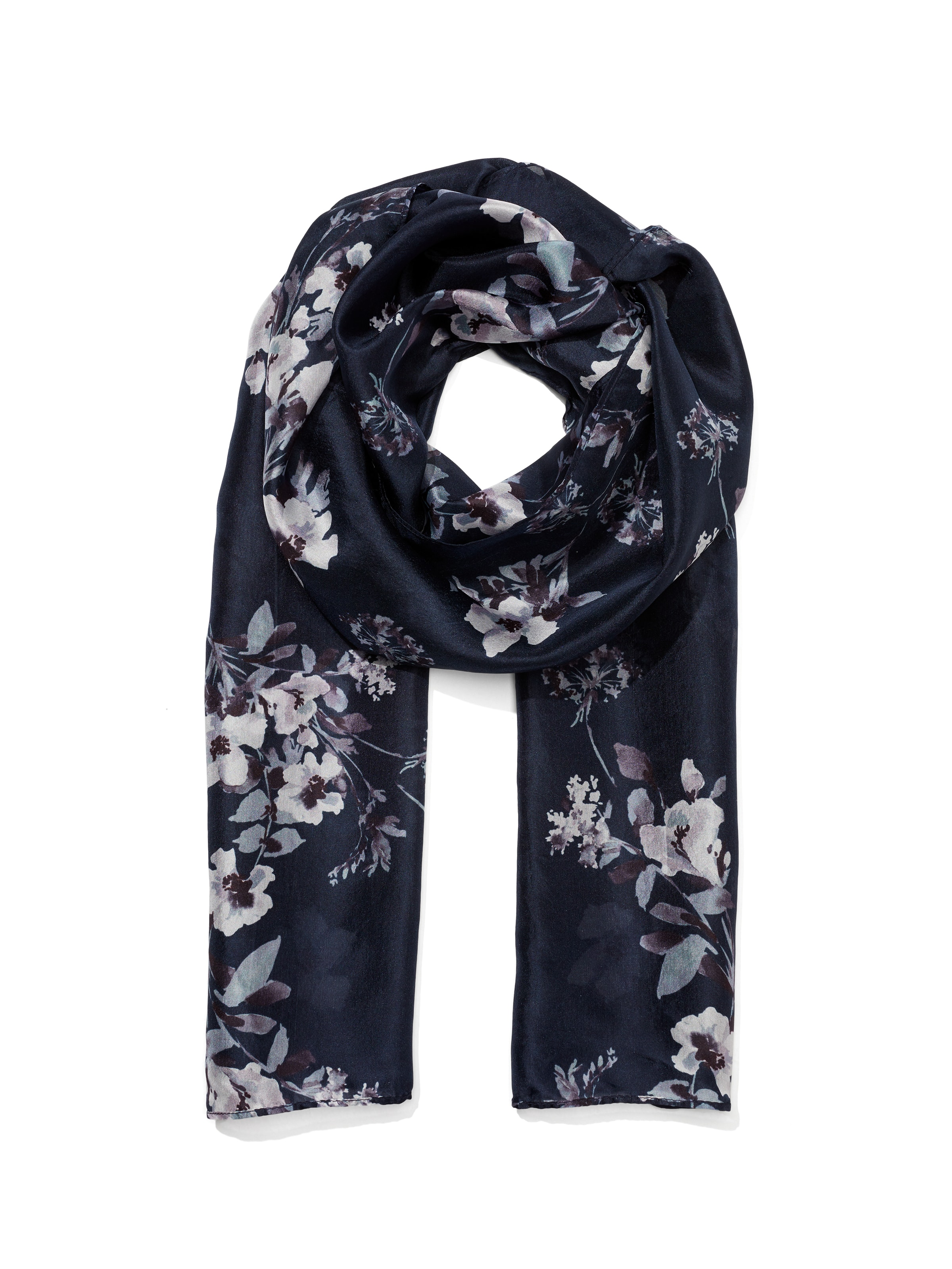Winter Bouquet Silk Scarf