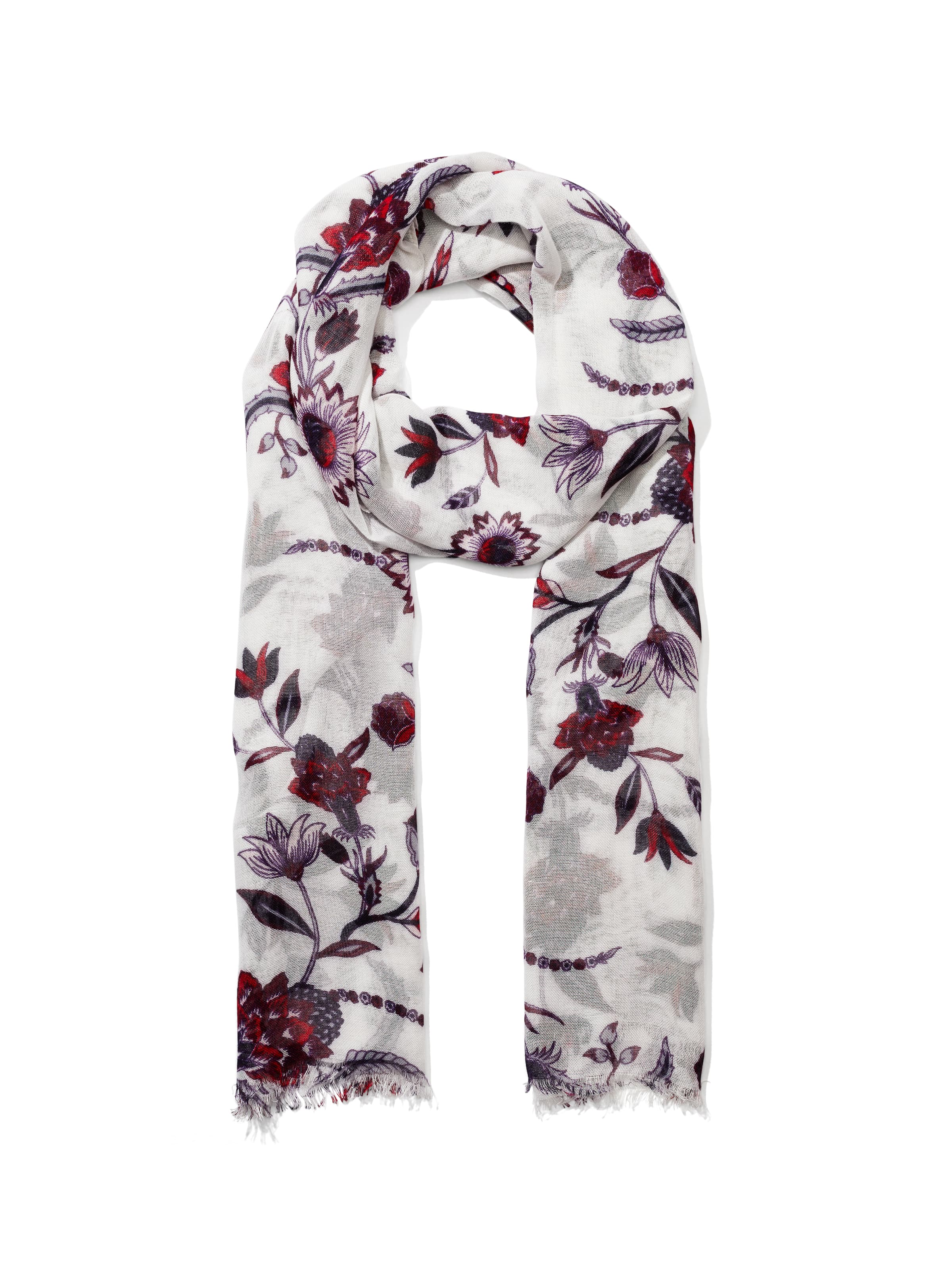 Ornate Bloom Viscose Scarf